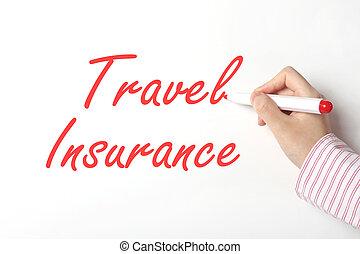 reise, begriff, versicherung