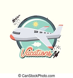 reise, fliegendes, urlaub, motorflugzeug