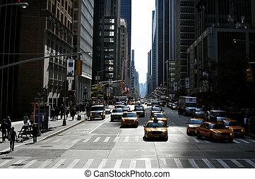 reise, fotos, von, new york, -, manhattan