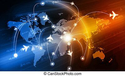 reise, gesamt-netzwerk