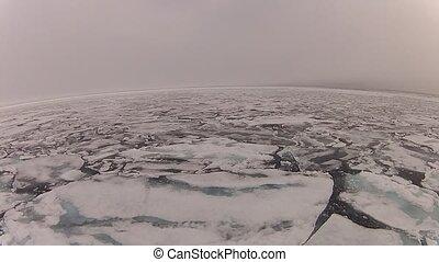 reise, in, der, eis, arktisch