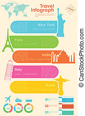 reise, infographic, tabelle