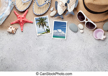 reise, urlaub, accessoirs, und, fotos