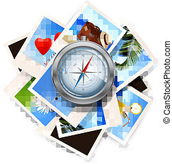 reise, vektor, compass., hintergrundbilder