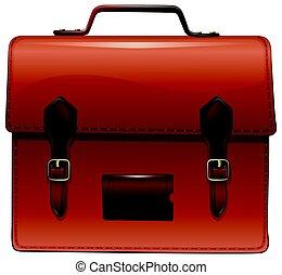 reisekoffer, brauner, nametag, aktentasche
