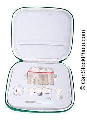 reisekoffer, dental, modell