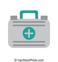 reisekoffer, hilfe, medizinischer notfall, zuerst