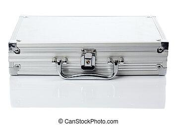 reisekoffer, silber