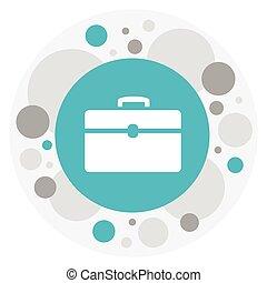 reisekoffer, wohnung, prämie, symbol, freigestellt,...