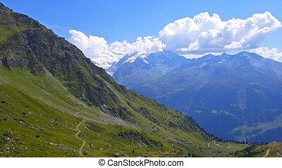 reisen, in, alps, schweiz