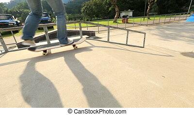 Reiten, Beine,  Skateboard,  skateboarder