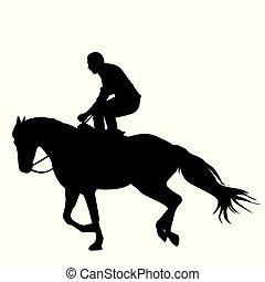 reiten pferd silhouette leute maskottchen web pferd guten leute zeichen aufkleber. Black Bedroom Furniture Sets. Home Design Ideas