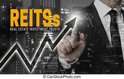 Reit's concept is shown by businessman