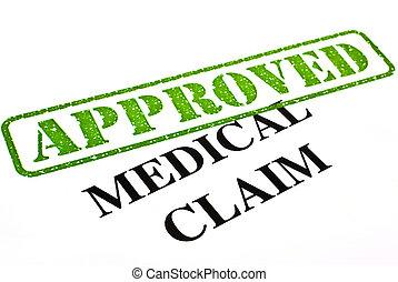 reivindicação, médico, aprovado
