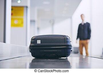 reivindicação, mala, bagagem