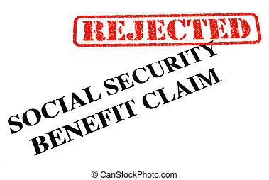 reivindicação, segurança, benefício, rejeitado, social