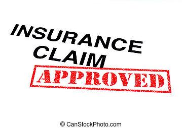 reivindicação, seguro, aprovado