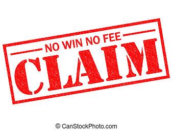 reivindicação, taxa, não, ganhe