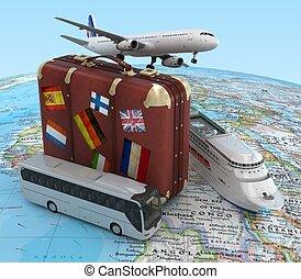 reizen, concept, vervoeren