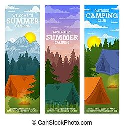 reizen, kamp, toerisme, zomer
