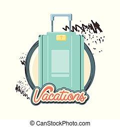 reizen, koffer, vakantie, pictogram