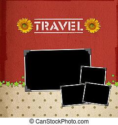 reizen, plakboek, concept