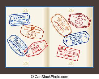 reizen, postzegels