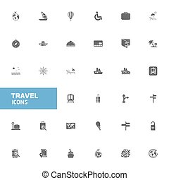 reizen,  Set, iconen