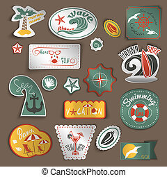 reizen, set, stickers
