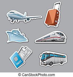 reizen, stickers