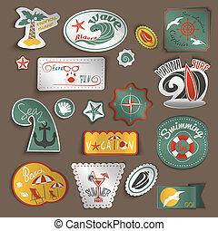 reizen, stickers, set