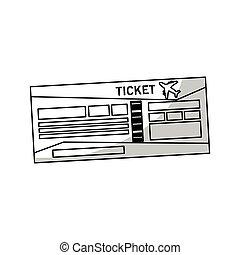 reizen, ticket, pictogram