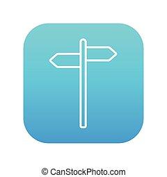reizen, verkeer, lijn, icon., meldingsbord