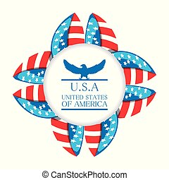 reizend, adler, mit, amerikanisches symbol, emblem