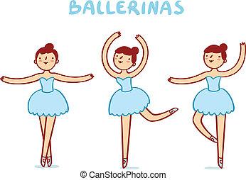 reizend, ballerinen, charaktere