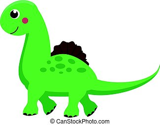 reizend, dinosaur., karikatur, dino, character., vektor, abbildung, für, kinder