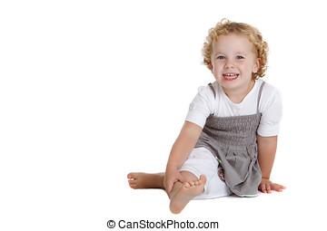 reizend, drei, jährige, lachender