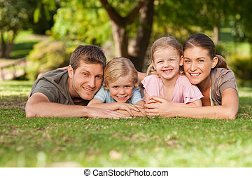 reizend, familie, park