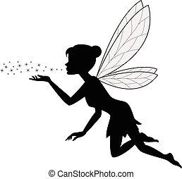 reizend, fee, fliegendes