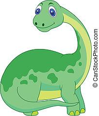 reizend, karikatur, dinosaurierer