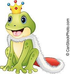reizend, karikatur, froschkönig