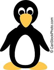 reizend, karikatur, pinguin