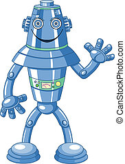 reizend, karikatur, roboter