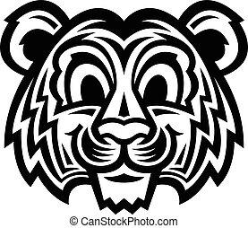 reizend, karikatur, tiger, katz