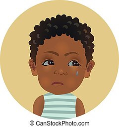 reizend, kind, mißgünstig, emoji., unzufriedenheit, afro,...