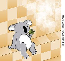 reizend, koala, dampf- raum