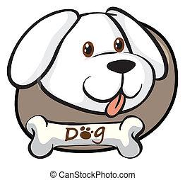 reizend, kopf, weißer hund