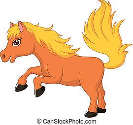 reizend, pferd, pony, karikatur