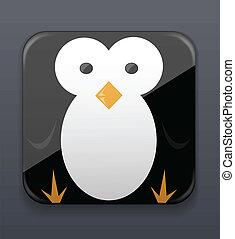 reizend, pinguin, ikone