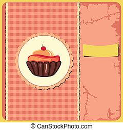 reizend, retro, cupcake